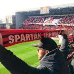 Fans in der City Arena (Štadión Antona Malatinského) vor dem Spiel Spartak Trnava - Slovan Bratislava