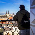 Ausblick vom Stadtturm von Trnava in Richtung Nikolausdom