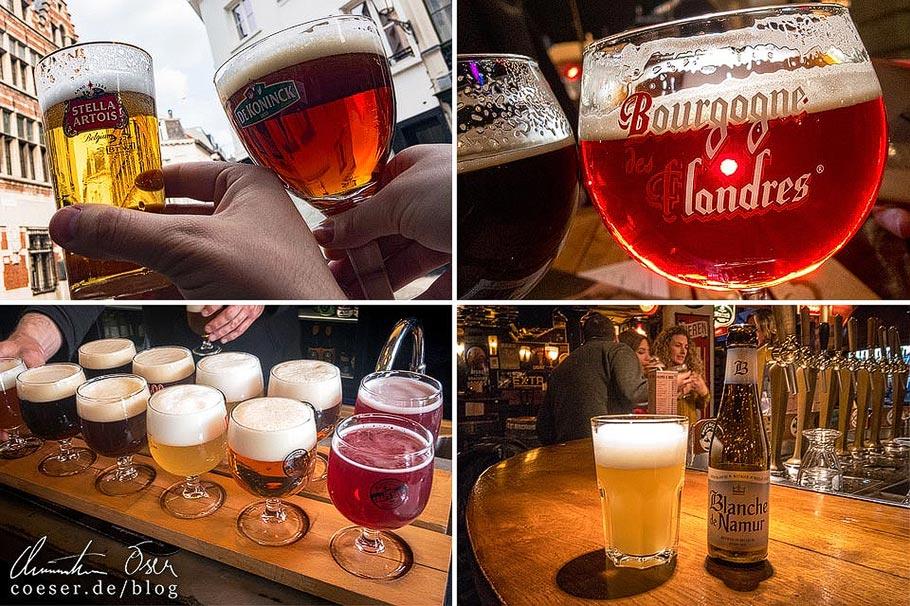 Belgisches Bier in den Städten Brüssel, Antwerpen, Brügge und Gent