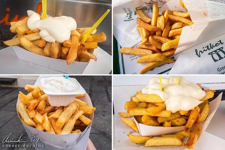 Pommes Frites in den belgischen Städten Brüssel, Brügge, Antwerpen und Gent