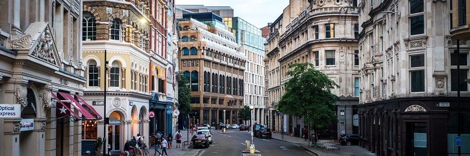 Stadtansicht von den Straßen in London