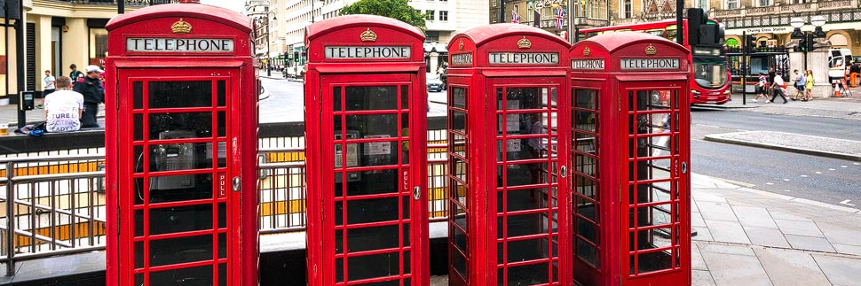 Rote Telefonzellen in London