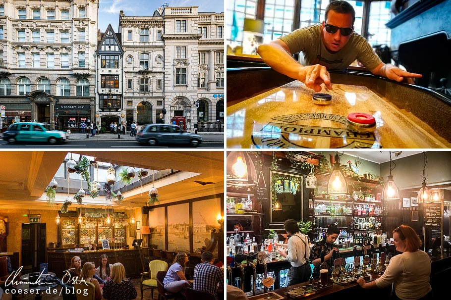 Das Pub Ye Olde Cock Tavern in London