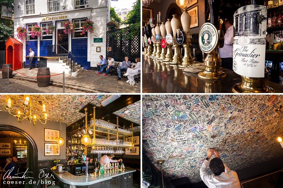 Das Pub The Grenadier in London