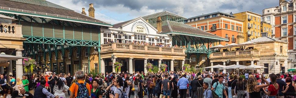 Covent Garden und Pub Punch & Judy in London