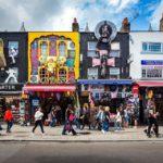 Geschäfte auf dem Camden Market in London