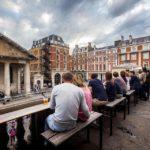 Blick vom Balkon des Pubs Punch & Judy auf Covent Garden