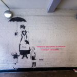"""Mural """"You can be as naughty as you want"""" in Neal's Yard in London"""