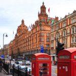Außenansicht des Warenhauses Harrods in London