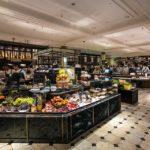 Die Food Halls im Warenhaus Harrods in London
