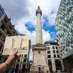 Die Urkunde für die Besteigung des Monument in London