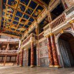 Detail der Bühne in Shakespeare's Globe Theatre