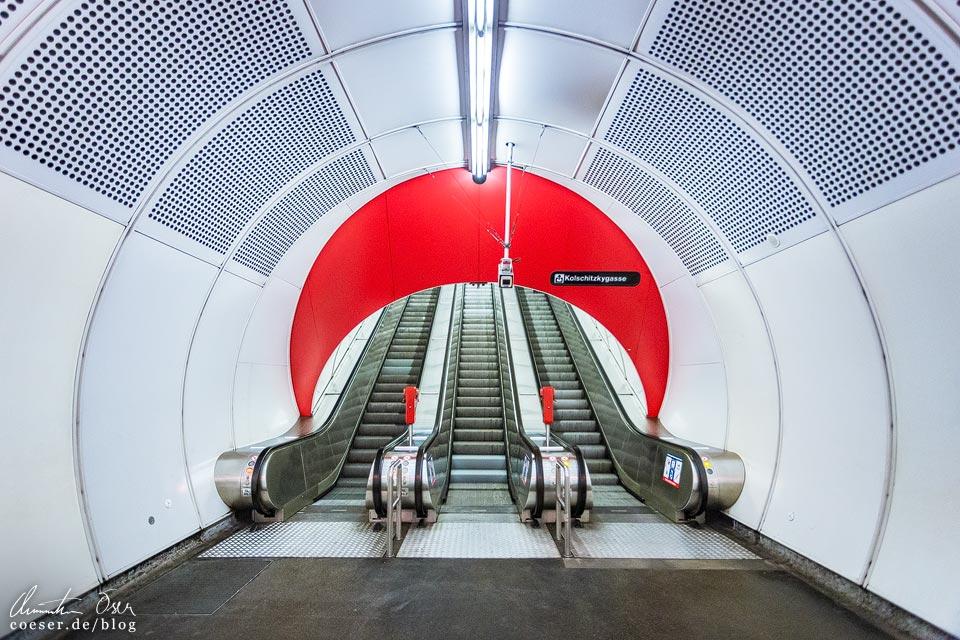 U1-Station Südtiroler Platz - Hauptbahnhof der Wiener U-Bahn · Architekt: Architektengruppe U-Bahn (AGU)