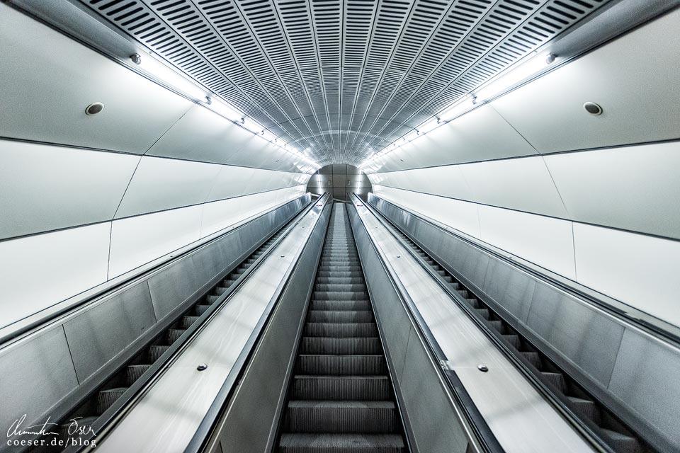 U2-Station Taborstraße der Wiener U-Bahn · Architekt: Gerhard Moßburger