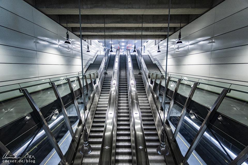 U2-Station Praterstern der Wiener U-Bahn · Architekt: Gerhard Moßburger