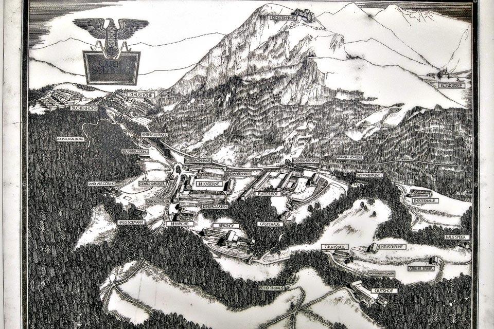 Historische Darstellung in der Dokumentation Obersalzberg in Berchtesgaden