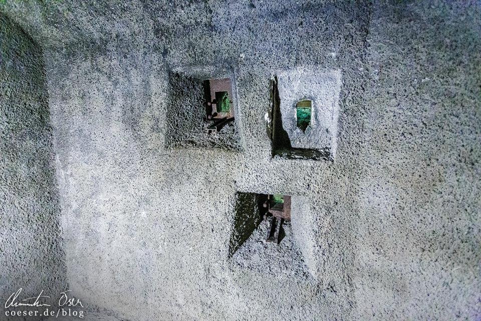 Bunkeranlage in der Dokumentation Obersalzberg in Berchtesgaden