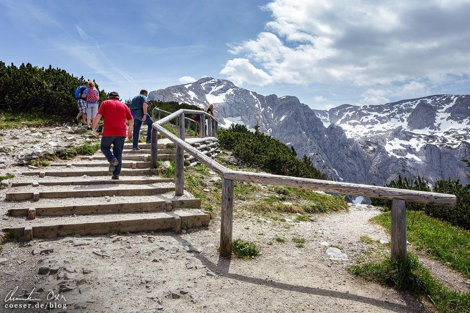Weg vom Kehlsteinhaus zum Gipfelkreuz
