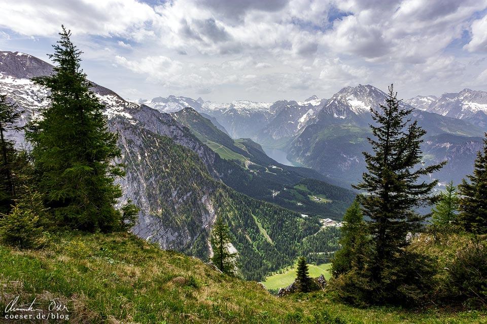 Blick vom Gipfel des Kehlsteins auf den Königssee