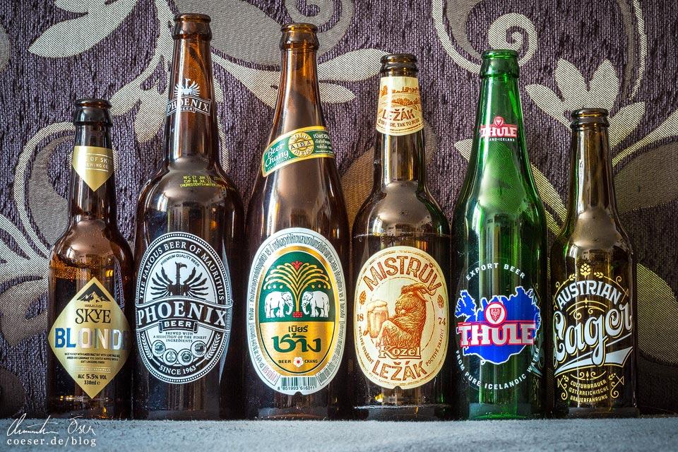 Bierflaschen als Reisesouvenirs