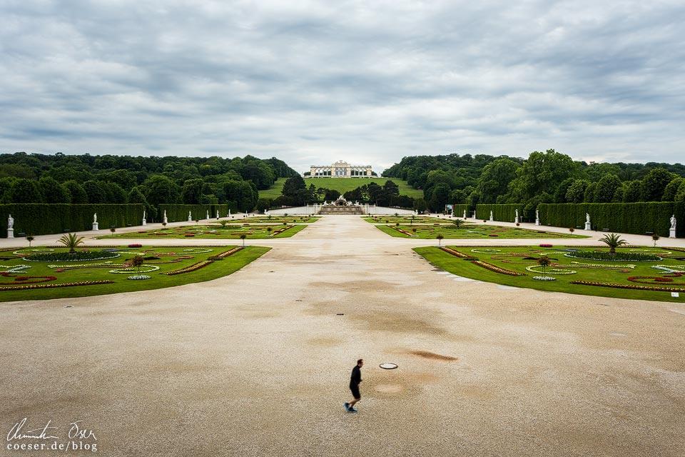 Das leere Wien in der Coronaviruskrise: Schlosspark Schönbrunn und Gloriette