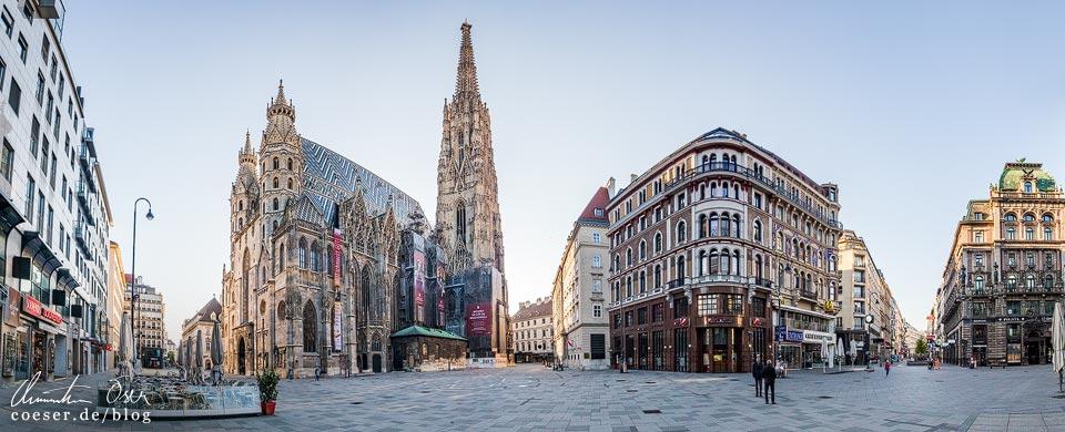 Das leere Wien in der Coronaviruskrise: Stephansplatz und Stephansdom