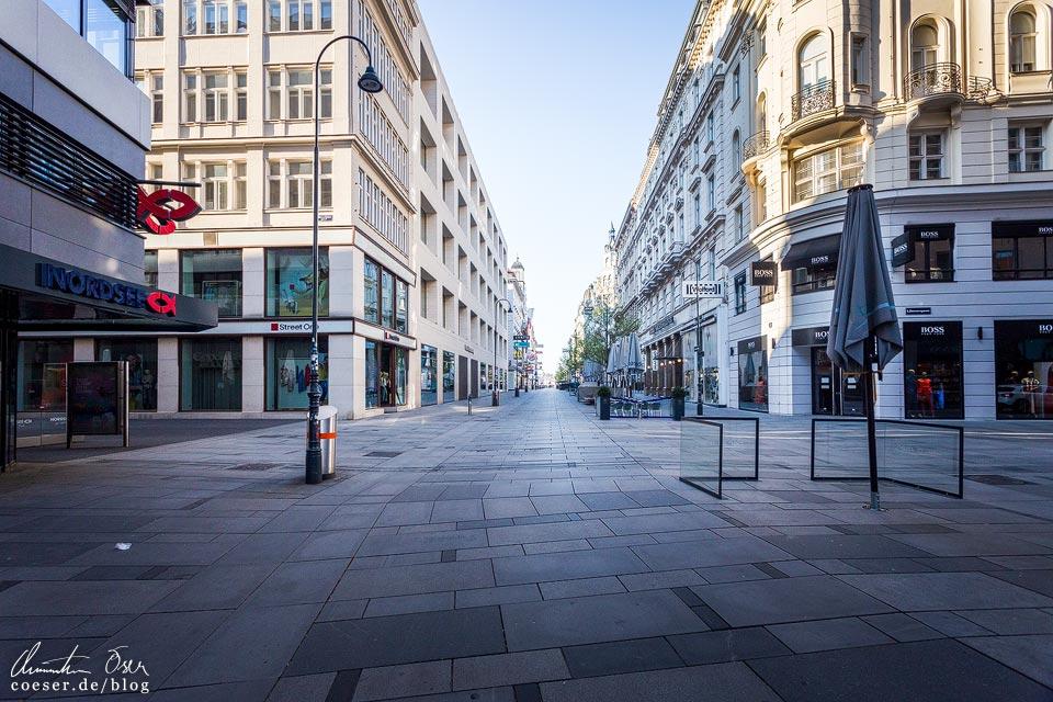 Das leere Wien in der Coronaviruskrise: Kärntner Straße