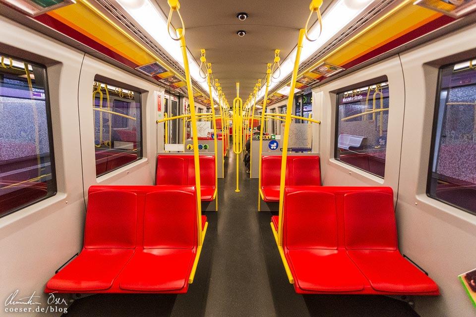 Das leere Wien in der Coronaviruskrise: U-Bahn