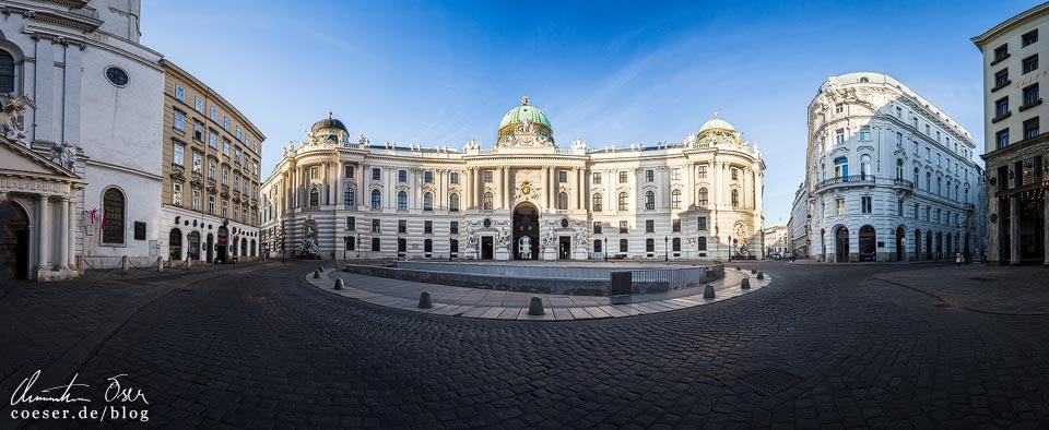 Das leere Wien in der Coronaviruskrise: Michaelerplatz