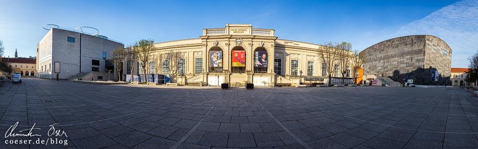 Das leere Wien in der Coronaviruskrise: Museumsquartier