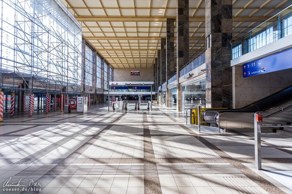 Das leere Wien in der Coronaviruskrise: Westbahnhof