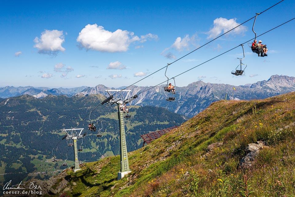 Sennigrat-Sessellift zur 3-Seen-Wanderung auf dem Hochjoch