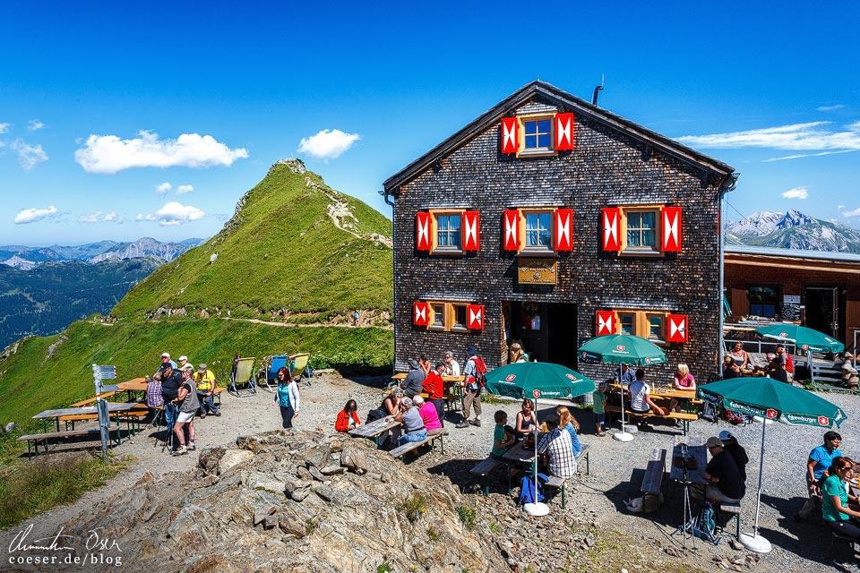 Wormser Hütte auf der 3-Seen-Wanderung auf dem Hochjoch