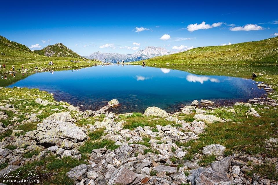 Herzsee auf der 3-Seen-Wanderung auf dem Hochjoch