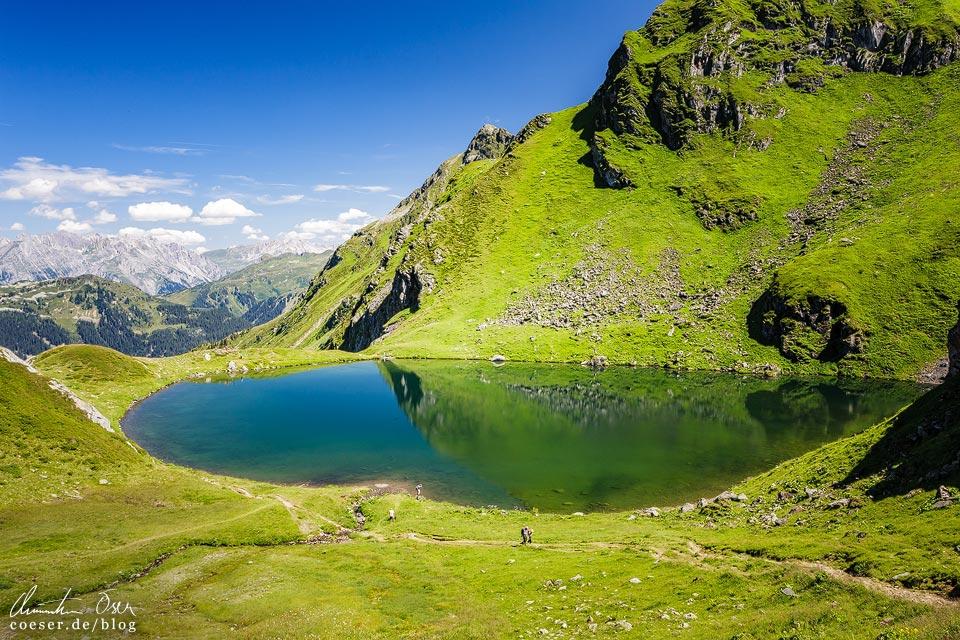 Schwarzsee auf der 3-Seen-Wanderung auf dem Hochjoch
