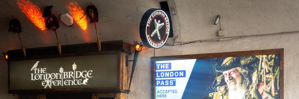 Eingang zur London Bridge Experience