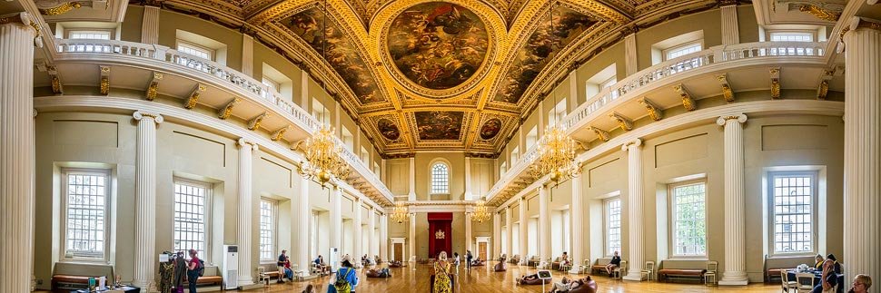 Panorama des Banqueting House in London