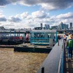 Einstiegsstelle zum Boot City Cruise in Greenwich in London