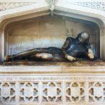 Statue von William Shakespeare in der Southwark Cathedral in London