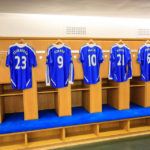 Spielerkabine im Stadion Stamford Bridge (FC Chelsea) in London
