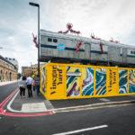 Außenansicht des Street Market Vinegar Yard in London