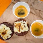 Street Food und Kaffee auf dem Street Market Vinegar Yard in London