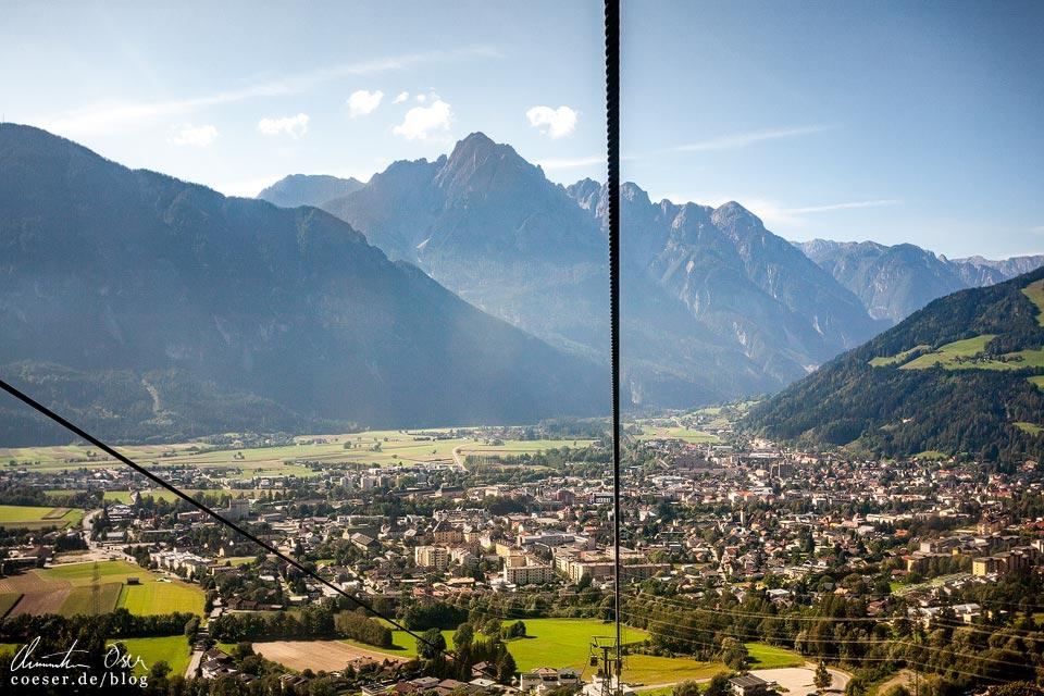 Seilbahn Zettersfeld mit Blick auf die Lienzer Dolomiten