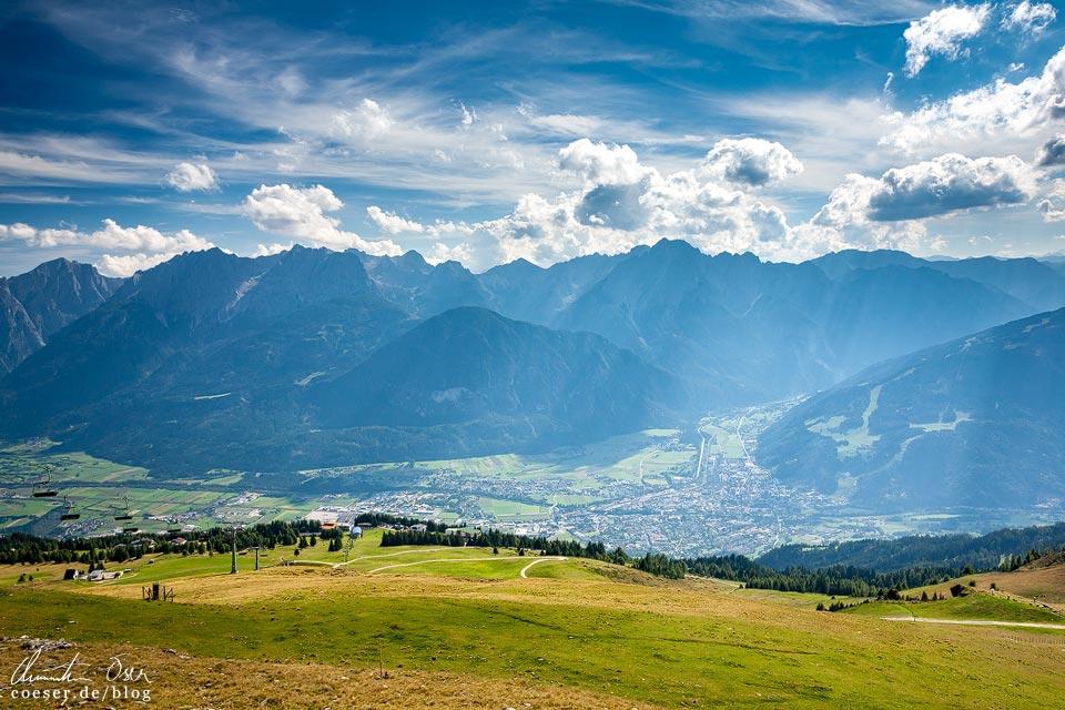 Blick auf die Lienzer Dolomiten von der Bergstation Steinermandl