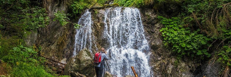 Gritschbach-Wasserfall auf dem Kristberg in Silbertal im Montafon
