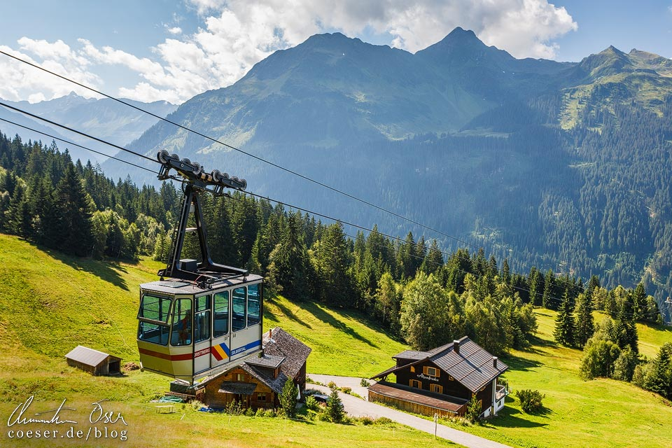 Seilbahn Kristbergbahn auf dem Kristberg in Silbertal