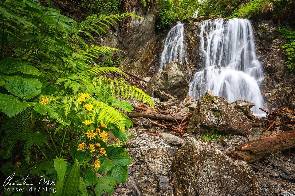 Gritschbach-Wasserfall auf dem Kristberg in Silbertal