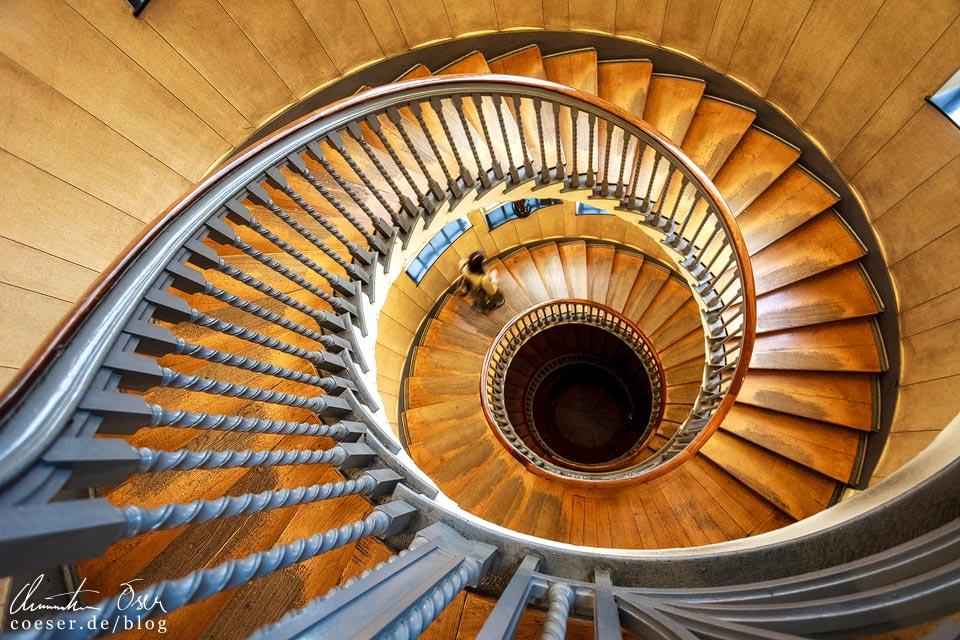 Treppenhaus im Einrichtungshaus Heal's in London