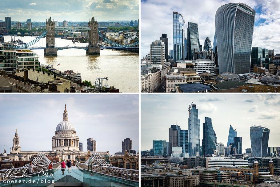 Citytrip nach London: Aussichtspunkte Monument, Millennium Bridge, Tate Modern