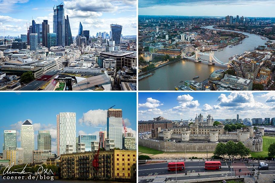 Citytrip nach London: Aussichtspunkte St Paul's Cathedral, The Shard, Schifffahrt auf der Themse und Hotel citizenM Tower